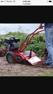 Garden and flower bed Rototilling services