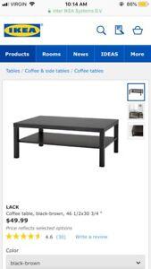 IKEA Lack Coffee Table in Black-Brown