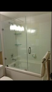 SHOWER GLASS DOORS ENCLOSURES BATHTUB GLASS RAILING STAIRS DECKS