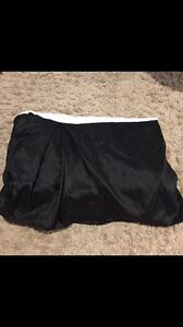 Black bed skirt , for a double bed