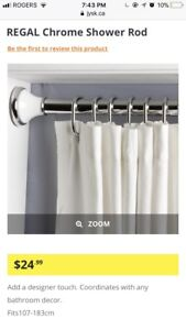 Shower curtain rod, towel rod and tp holder