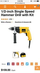 1/2-inch Single Speed Hammer Drill with Kit
