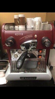 Rancilio Epoca S1 Espresso Machine - Red With Grinder
