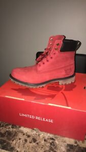 Men's Limited Release red Timberland boots
