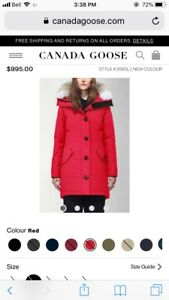 Canada Goose Rossclair Parka *new* Lg
