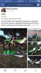 Kx 85 racing motorbike Coolah Warrumbungle Area Preview