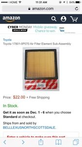 New Toyota Air Filter