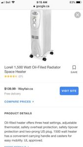 Heater electric oil filled heater