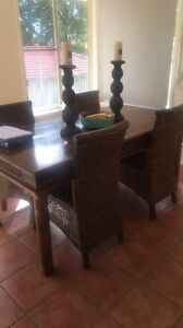 Timber dining table and chairs Alexandra Hills Redland Area Preview