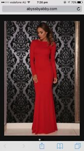 Abyss By Abby red saba gown Bayswater Bayswater Area Preview