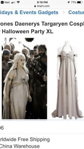 Daenery costume dress and wig from Game of thrones series