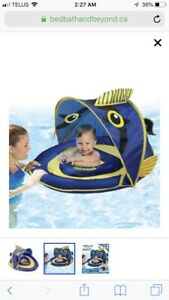 Aqua Leisure Grow-With-Me Sunshade Angel-The-Fish Baby Float