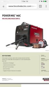 Lincoln 140c mig welder, FORT MAC residence only