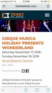 1 Adult Ticket to Cirque Musica