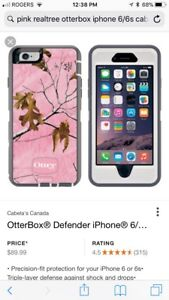 Pink REALTREE iPhone 6/6s otter box