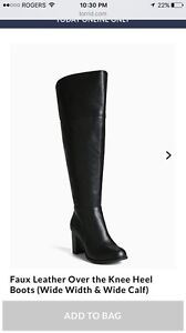 Size 11 Wide Calf Over the Knee Boots