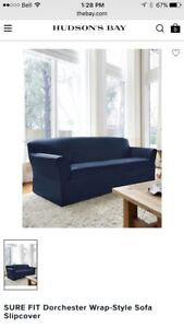 Couch and loveseat covers- Navy Blue