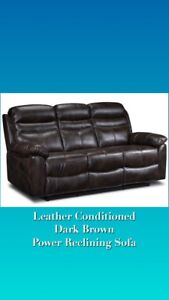 Leather Electric Recliner - Excellent Condition