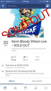 2 x Kevin Bloody Wilson tickets Mullaloo Joondalup Area Preview