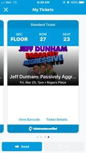 4 Floor Tickets to Jeff Dunham March 23, 2018
