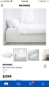 IKEA BRIMNES full size bed frame for sale!