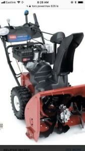 Looking for a non running toro power max snowblower