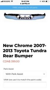 Toyota Tundra chrome rear bumper 2007-2013