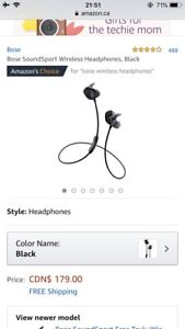 Bose wireless headphone(SoundSport)
