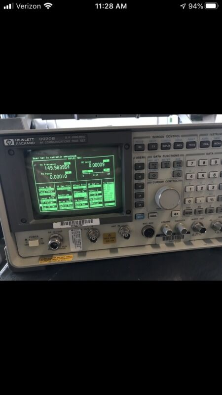HP Agilent 8920B  Communications Service Monitor Spectrum Analyzer LOADED TESTED