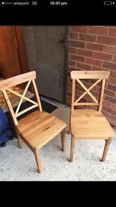 2 x IKEA dining chairs Lane Cove Lane Cove Area Preview