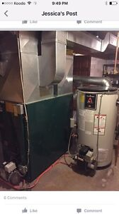 Oil Furnace , Hot water tank and double wall 1000L oil tank