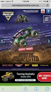 Monster Jam Sydney VIP tickets Mona Vale Pittwater Area Preview