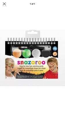 Halloween Face Painting Steps (Snazaroo Halloween Face Paint - A6 Booklet with 2-Step)