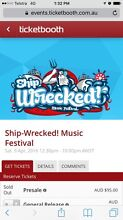 2x Shipwrecked festival tickets Spearwood Cockburn Area Preview