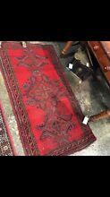 Vintage hand loomed Persian fine rug woollen carpet red Glebe Inner Sydney Preview