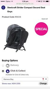 Strider Compact Second Seat - onyx or capsule frame Armidale Armidale City Preview