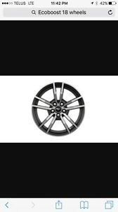 "Mustang Ecoboost 18"" OEM Wheels/Tires Brand new!"