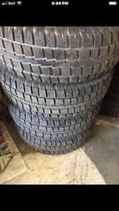 Almost NEW 245/70/17 COOPER studded tires