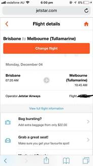 Plane Ticket - Brisbane to Melbourne