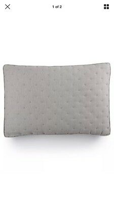 - Hotel Collection Eclipse HEATHER GREY Quilted Standard SHAM, 2 available- Brand