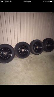16 x 6.50 inch Ford interceptor wheels in good condition