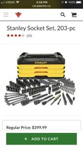 Stanley 203 Piece Socket Set