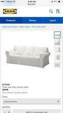 White IKEA Couches Ektorp Bassendean Bassendean Area Preview
