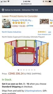 Playpen with gate and about 850 balls