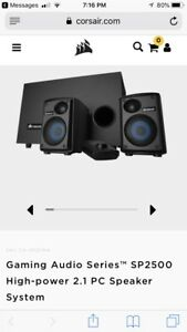 Corsair Gaming SP2500 High-power speaker system Reduced further
