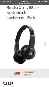 Monster Clarity HD On-Ear Bluetooth Headphones - Black