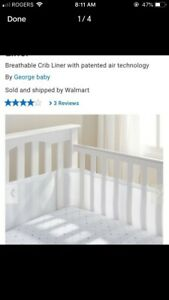 Our Breathable® Mesh Crib Liner