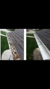 Eavestroughs / gutter and window cleaning, property clean ups