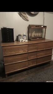 Solid Wood Dresser and 1 Night Stand