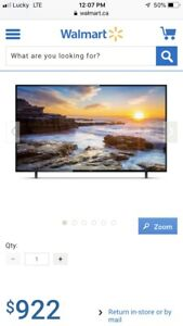 Sanyo 65inch 4K hd tv for sale with box!